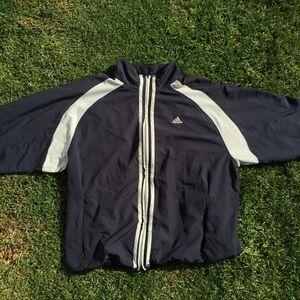 99551dc289f adidas Jackets & Coats | Sold On Depop Navy Blue Windbreaker | Poshmark